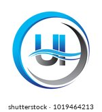 initial letter logo ui company...