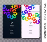 vector colorful web banners... | Shutterstock .eps vector #1019464468