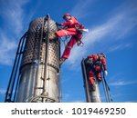 rope access inspection for... | Shutterstock . vector #1019469250