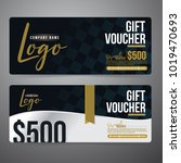 gift voucher premier color... | Shutterstock .eps vector #1019470693
