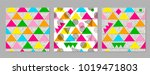 colorful geometric seamless... | Shutterstock .eps vector #1019471803