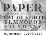 display stencil serif antique...   Shutterstock .eps vector #1019471914