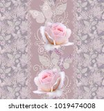 seamless pattern. decorative...   Shutterstock . vector #1019474008