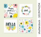 vector collection for design... | Shutterstock .eps vector #1019474254