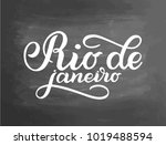 abstract vector with text   rio ... | Shutterstock .eps vector #1019488594