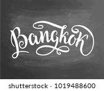 bangkok handlettering. city... | Shutterstock .eps vector #1019488600