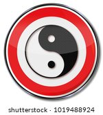 sign yin and yang and get the... | Shutterstock . vector #1019488924