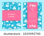 vector card or flyer template... | Shutterstock .eps vector #1019492740