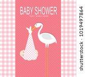 baby shower card design   Shutterstock .eps vector #1019497864
