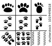 footprint icons set   Shutterstock .eps vector #1019498818