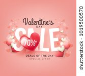 illustration of valentines day... | Shutterstock .eps vector #1019500570