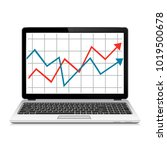 modern laptop with graph on...   Shutterstock .eps vector #1019500678