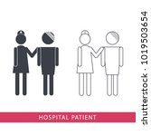 hospital patient vector icon on ...   Shutterstock .eps vector #1019503654