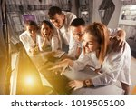 friends are solving quests to... | Shutterstock . vector #1019505100
