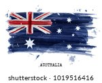 watercolor painting flag of... | Shutterstock .eps vector #1019516416