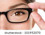 glasses eyewear closeup of... | Shutterstock . vector #101952070