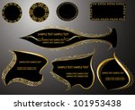 design elements with gold frame | Shutterstock .eps vector #101953438