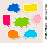 set of colorful speech bubbles | Shutterstock .eps vector #1019536909