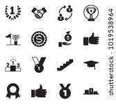 solid black vector icon set  ... | Shutterstock .eps vector #1019538964