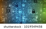 technology security concept.... | Shutterstock .eps vector #1019549458