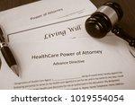 healthcare power of attorney ... | Shutterstock . vector #1019554054