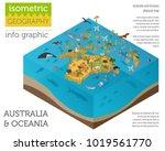 isometric 3d australia and... | Shutterstock .eps vector #1019561770