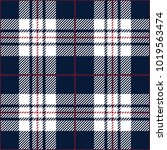 blue and white tartan plaid... | Shutterstock .eps vector #1019563474