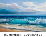 Blue  Tropical Sea And Beach...