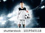 kids   soccer champion. boy... | Shutterstock . vector #1019565118