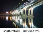 night view of illuminated... | Shutterstock . vector #1019565298