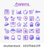inline shopping icons collection | Shutterstock .eps vector #1019566159