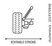 car suspension linear icon.... | Shutterstock .eps vector #1019570848