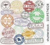 saint louis stamp vector art... | Shutterstock .eps vector #1019574028