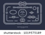 nautical rope knots and frames... | Shutterstock .eps vector #1019575189