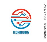 technology   vector business... | Shutterstock .eps vector #1019576464
