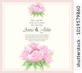 invitation card  wedding card... | Shutterstock .eps vector #1019579860