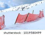 Ski Piste Fence. Red Fence At...