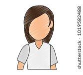beautiful woman avatar character   Shutterstock .eps vector #1019582488
