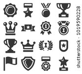 awards and trophy icons set.... | Shutterstock .eps vector #1019590228