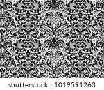seamless black ornament on... | Shutterstock .eps vector #1019591263