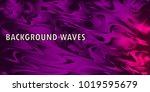 neon glowing wave  magic energy ... | Shutterstock .eps vector #1019595679