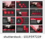 red bundle infographic elements ... | Shutterstock .eps vector #1019597239