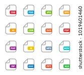 set of program file formats and ... | Shutterstock .eps vector #1019601460