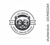 cat face logo   vector