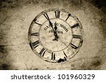 An Old Station Clock In Sepia...