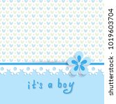 baby shower for a boy with a... | Shutterstock .eps vector #1019603704