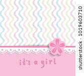 baby shower for a girl with a... | Shutterstock .eps vector #1019603710