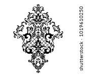 vintage baroque frame scroll... | Shutterstock .eps vector #1019610250