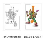 pictures of playing cards joker | Shutterstock .eps vector #1019617384