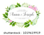 wedding invitation with... | Shutterstock .eps vector #1019619919